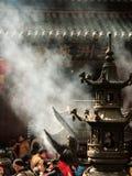 Zhoushan Kina - May 25 2016: buddha tempel under den vanliga dagen Royaltyfri Fotografi