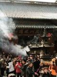 Zhoushan Kina - May 25 2016: buddha tempel under den vanliga dagen Royaltyfri Foto