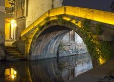 zhouzhuang ночи моста Стоковое Изображение RF
