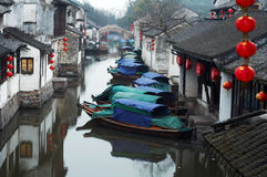 zhouzhuang antique de l'eau de ville de tourisme de porcelaine photo stock