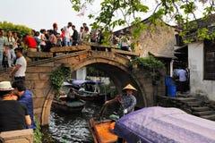 Zhouzhuang en China se conoce como la Venecia del este fotos de archivo libres de regalías