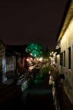 Zhouzhuang natten Royaltyfri Foto