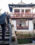 Στην πόλη νερού Zhouzhuang, Suzhou, Κίνα στοκ εικόνες με δικαίωμα ελεύθερης χρήσης