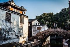 Zhouzhuang Venedig kines fotografering för bildbyråer