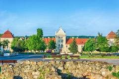 Zhovkva Castle in center town Royalty Free Stock Photography