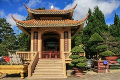 Zhu Lin Buddhist temple in vietnam Stock Photography