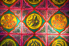 Zhuang Brocade,Chinese Fabric Background Royalty Free Stock Image