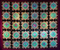 Zhuang Brocade,Chinese fabric background. Zhuang brocade is produced in Guangxi Zhuang Autonomous Region,China.The splendid handicraft of Zhuang brocade was Stock Photo