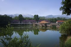 The Zhuang Shang holiday village. In HuiZhou City, GuangDong Province of China.landscape and so on Stock Photo