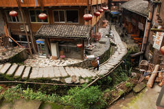 Zhuang village. Guangxi is ethnic minority areas, and they all live in the mountains, this is guilin Long Shengxian taiping village zhuang village of documentary Royalty Free Stock Photos
