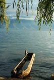 A ZhuCaoChuan  in Lugu Lake Stock Images