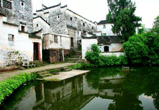 Zhuge bagua village, the ancient town of china. Zhuge bagua village saved a lot of ming and qing dynasties ancient residential areas in jinhua city, lanxi city royalty free stock images