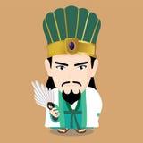 Zhuge Liang charakter Obrazy Stock