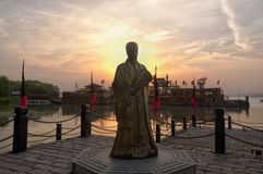 Zhugeliang statue Royalty Free Stock Images