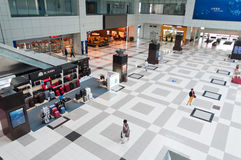 Zhuhai airport - departure in hall Stock Image