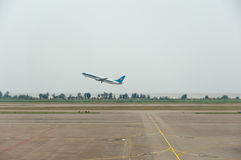 Zhuhai airport - plane took off Royalty Free Stock Images