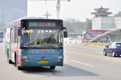 Zhuhai,bus in city Stock Images