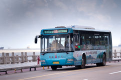 Zhuhai,bus in city Royalty Free Stock Photos