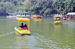Zhuhai,China:boating in park Royalty Free Stock Image