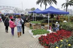 Zhuhai China, de bloemmarkt van het Festival van de Lente Stock Foto's