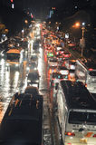 Zhuhai,China. night cars jam Stock Photography