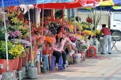 Zhuhai,flowers market Stock Photography