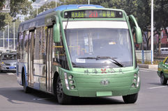 Zhuhai,full-electric bus in city Royalty Free Stock Photos