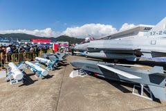 Joint Fighter-17 Thunder at Airshow China 2018. Zhuhai, GuangDong, China - November 07, 2018: Joint Fighter-17 Thunder at Airshow China 2018 stock images