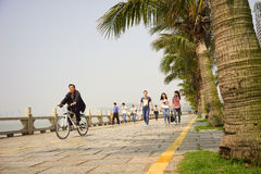 The Zhuhai Lover's road in China seaside city Stock Photo