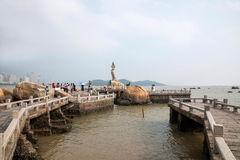 Zhuhai Lovers Road waterfront Zhuhai Fisher Girl sculpture like Stock Photo