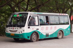 Zhuhai mini LNG bus in service Stock Photos