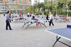 Zhuhai,Outdoor table tennis Royalty Free Stock Photos