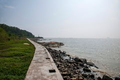 Zhuhai seaside wild dog lovers Middle Island Road, Sea Songs stock photos