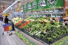 Zhuhai, supermercato del Carrefour Fotografia Stock