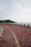 Zhuhai Zhong Ling Kok Tsui seafood lovers pier parking Lookout Stock Image