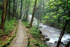 Zhuji five waterfall tourist area Royalty Free Stock Images
