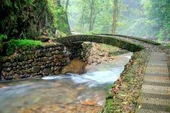 Zhuji five waterfall tourist area Stock Photo