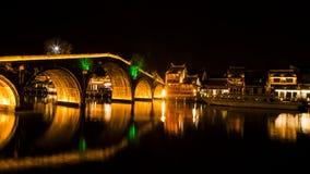 Zhujiajiao, ponte liberato Immagini Stock Libere da Diritti