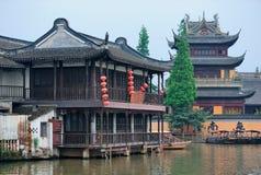 Zhujiajiao stad i Shanghai Fotografering för Bildbyråer