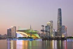 Zhujiang new town at dusk Royalty Free Stock Photo