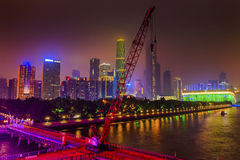 Zhujiang New Town Pearl River Guangzhou Guangdong China Royalty Free Stock Image