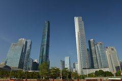 Zhujiang Nowy miasteczko w Guangzhou, Chiny Fotografia Stock