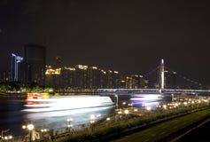 Zhujiang Nowy miasteczko widział od kantonu wierza Guangzhou Zdjęcia Royalty Free