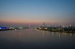 Zhujiang River at dusk in guangzhou. Royalty Free Stock Photography