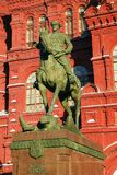 Zhukov monument in Moscow, Russia Royalty Free Stock Photography