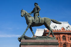 Zhukov monument in Moscow, Russia Royalty Free Stock Photos