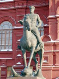 Zhukov monument near in Moscow, Russia Royalty Free Stock Photos