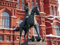 Zhukov monument near in Moscow, Russia Royalty Free Stock Image