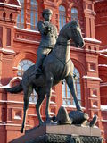 Zhukov monument near in Moscow, Russia Stock Photography