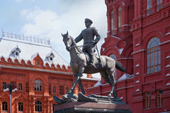 Zhukov monument. Red Square. Moscow Stock Photography